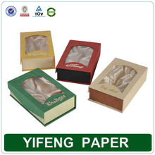 Yifeng custom handmade luxury colorful insert paper packaging boxes with clear PVC window