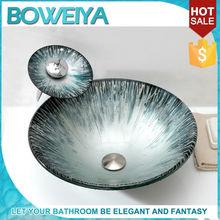 China Sanitary Ware Bathroom Blue Green Turkish Double Utility Sink