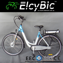 700C 250W city woman 36V lithium e bike from china with EN15194 (E-TDB02 blue)