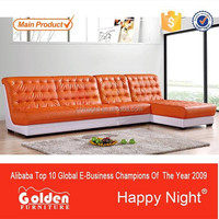 Golden quality modern leather sofa for sale