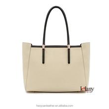 Elegant classical white big tote handbag