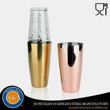 Low Price Cheap glass copper plated wine cocktail shaker