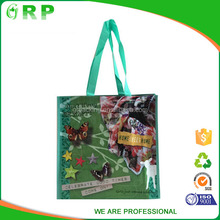 Colorful printing pp woven surpermarket eco-friendly shopping bag