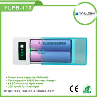 5v 1a usb output power bank universal 18650 battery charger