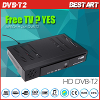 DVB-T2 HD Digital Video Broadcasting Terrestrial Digital TV Receiver Set Top Box with Remote Controller for HDTV