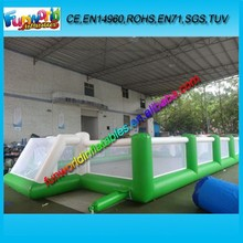 0.55mm PVC Tarpaulin Inflatable Football Sport Game Foam Soccer Pitch For Sale (FUNSP1-212)