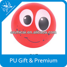 high quality of PU smile ball trendy gift toys for child pu antistress ball