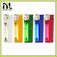 OEM LED gas disposable torch electronic plastic cheap cigarette refillable kitchen lighter