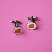 Promotional custom soft enamel with AP design cufflinks for men