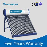 High efficiency rooftop pressured solar water heater with solarkeymark
