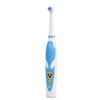 Factory made 36(L)*36(W)*236(H) mm silicone baby toothbrush