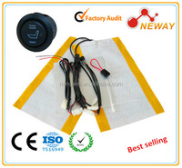 12 V 1K carbon fiber car seat heater pad with E mark CE certification
