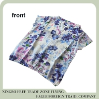 Ningbo Flying eagle best sale flower chiffon ladies blouse