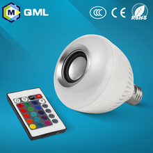 bluetooth speaker with led light Color Changing E27 RGB LED Bulb with Remote Control