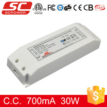 30w 700mA 25-45V triac dimmable led driver with CE RoHS