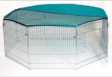 wire steel dog playpen/Sliver Dog Exercise Play Pen With Door and Carry Cage