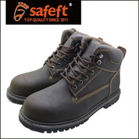 2015 new crazy horse leather pu outsole goodyear welt safety boots