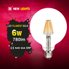 china top ten selling products g125 8w e27 home decor led filament lamp