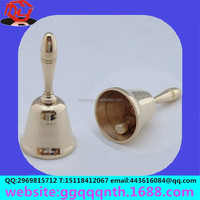 Manufacturers selling hardware metal 3.5 -inch 90*180MM hand shank handle Christmas bell/party bell for class