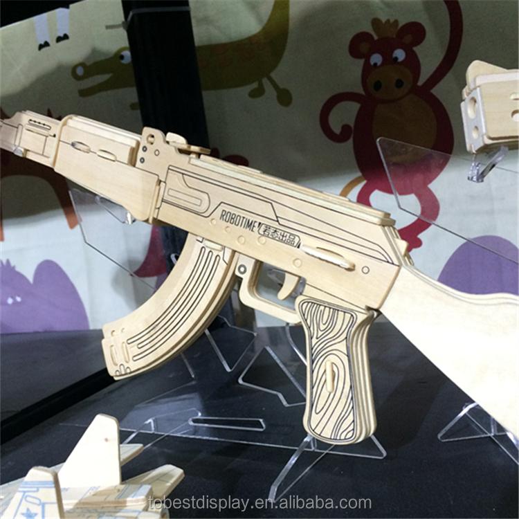 Acrylic Plexiglass Gun Display Stand Retail Gun Display