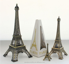 metal paris tower keychain as promotional gift for desk decoration andadult fashion accessory and branded market