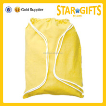 China Manufacturers eco-friendly folding yellow blank canvas sling bag