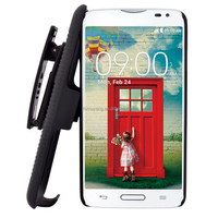 Protective Future Armor Holster Kickstand Case for LG L80 D380 with Belt Clip
