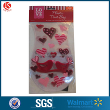 Valentine pp decorated cellophane bags