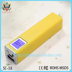 Portable smart power supply 2600mah with lcd led timer