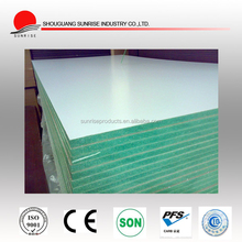 manufacture supply 12mm Good price Green color waterproof MDF board