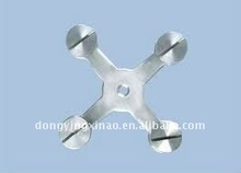stainless steel four ways glass spider