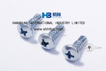 Yellow zinc plated hexagon flange head self-drilling screw type 17,screws manufacturer,can supplies large ranges of types