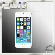 Cell phone accessories clear tempered glass screen protector for iphone 5 with design