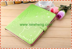 New arrival Silk Pattern Flip Stand Leather Case for iPad Mini/1/2/3