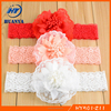 Stain Infant Rose Flower Soft Elastic Toddler Infant Newborn Lace Headband