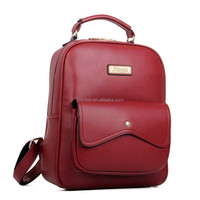Fashion Bags Women Practical Backpack with Solid Zippers Design