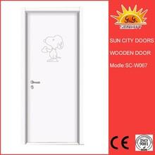 pretty hot sale solid wooden door long service life