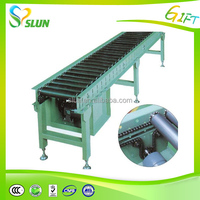 Stainless steel roller and rubber conveyor belt material