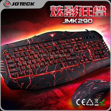 2015 new product crackle illuminated mouse and keyboard combo,gaming keyboard and mouse combo factory