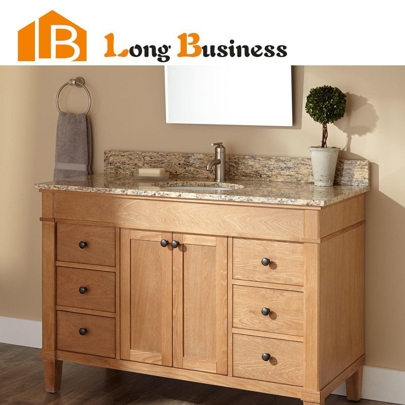 LB LX2004 Solid Wood Double Sink Bathroom Vanity Commercial Bathroom Vanity