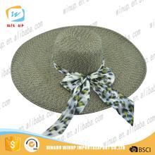 2016 Wholesale Fashion Girls Wide Brim Straw Hat Spanish Beach Hat