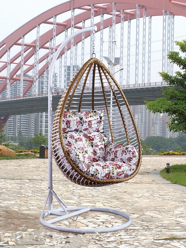 design single garden swing chair cushions in white color buy garden