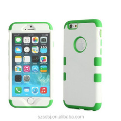 Hard Plastic+Soft Silicon Rubber Armor Defender Case Cover for Apple iPhone 6