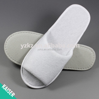 White open toe terry cheap disposable slippers for hotel guests slipper