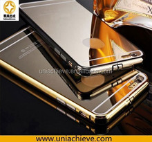 For Apple Iphone 6/iPhone 6 plus Case, aluminium Material case for Iphone 6/iPhone 6 plus, aluminium frame+mirror case
