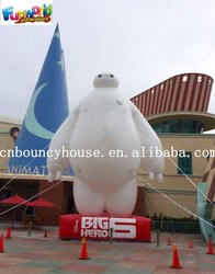 Outdoor Giant Inflatable White Man, Inflatable Robot Baymax Advertising