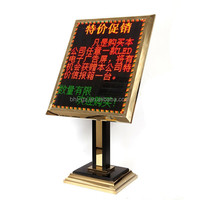 Hotel Lobby Guest Direction Board LED Advertising Sign Board Ground LED Sign Stand Electric Display Lamp Board Post Stand P41
