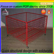 Metal mesh portable custom basketball floor display shelf