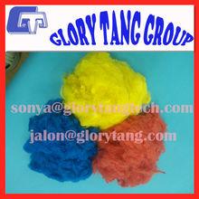 100% virgin colour fiber, flame retardant polyester staple fiber