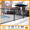 3 rails flat top Black welded steel fence